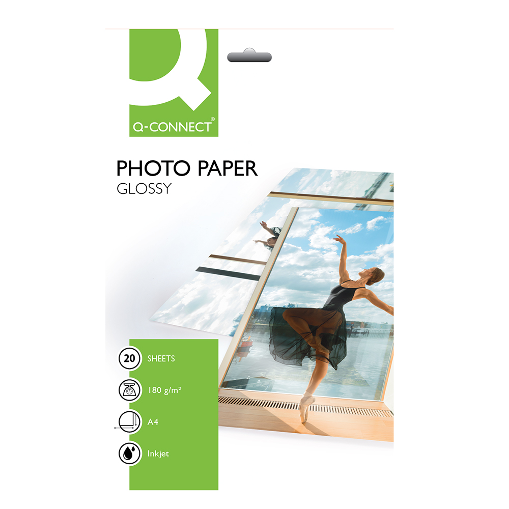 Fotopapir Q-Connect Inkjet A4 Gloss 180g 20 ark
